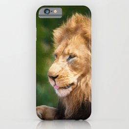 King Of The Jungle (digital Painting) iPhone Case