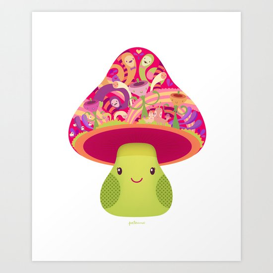 Mrs. Shroom Art Print