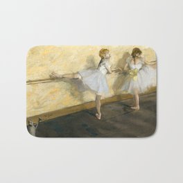 Dancers Practicing at the Barre by Edgar Degas Bath Mat