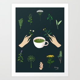 Magical Herbal Tea Art Print