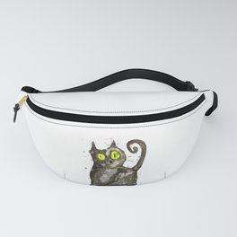Big fat black cat Fanny Pack