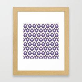 Drops Retro Ultra Violet Framed Art Print