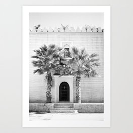 "Travel photography print ""Magical Marrakech"" photo art made in Morocco. Black and white. Art Print"
