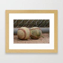 Baseballs Framed Art Print
