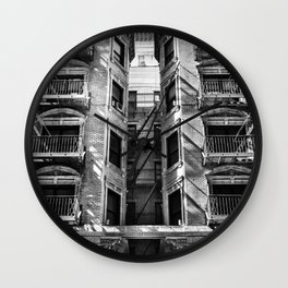 New York fire escapes Wall Clock