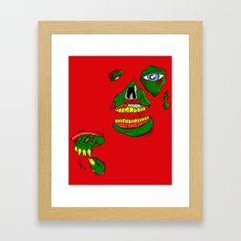 Zombie See Through Framed Art Print