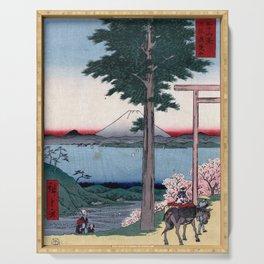 Hiroshige - 36 Views of Mount Fuji (1858) - 35: Mt. Kanō in Kazusa Province Serving Tray