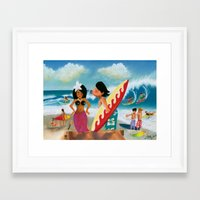 surfer Framed Art Prints featuring Surfer by colortown