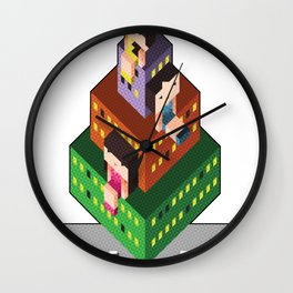 Perfume City by Kureshin Wall Clock