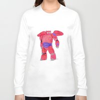 baymax Long Sleeve T-shirts featuring baymax  by Art_By_Sarah