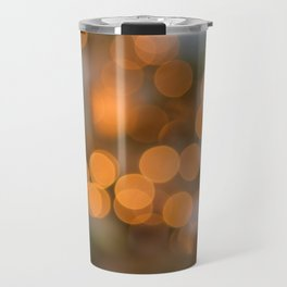 Golden Lights on a Christmas Tree (Color) Travel Mug