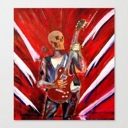 Fantasy art heavy metal skull guitarist Canvas Print