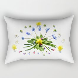 Spring flowers and branches II Rectangular Pillow