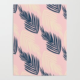Pink Palms Poster