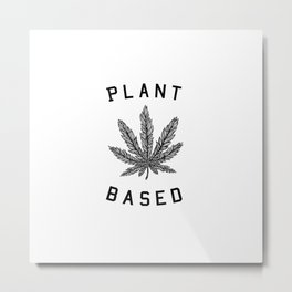 plant based marijuana leaf Metal Print