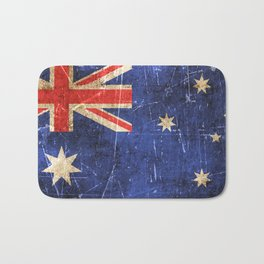 Vintage Aged and Scratched Australian Flag Bath Mat