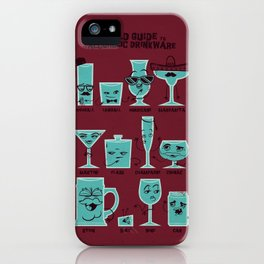Field Guide to Alcoholic Drinkware iPhone Case