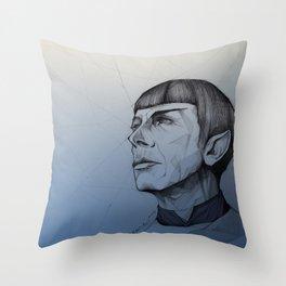 Live Long and Prosper - Blue Throw Pillow