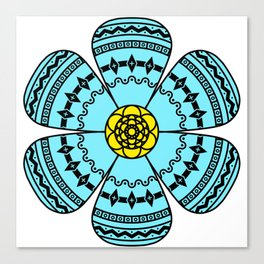 Hippie Geometric Flower Canvas Print