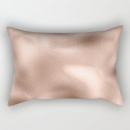 Rose Gold Metallic Texture Rectangular Pillow