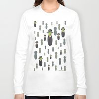 magritte Long Sleeve T-shirts featuring Kokeshi Magritte pattern by Pendientera