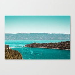 Even in the summer this lake looks like a frozen glass. Canvas Print