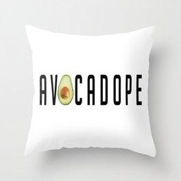 AVOCADOPE Throw Pillow