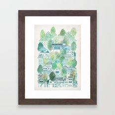 Cambodian Village Framed Art Print