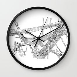 tangled cedars Wall Clock