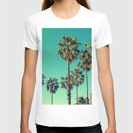 Palm Trees Turquoise Sky T-shirt