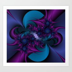 Indigo Thorns Art Print
