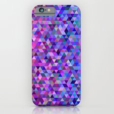 Pink and blue triangles Slim Case iPhone 6s