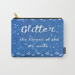 Quirky funny glitter - blue Carry-All Pouch