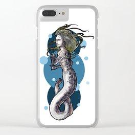Sea Lamprey Mermaid Clear iPhone Case