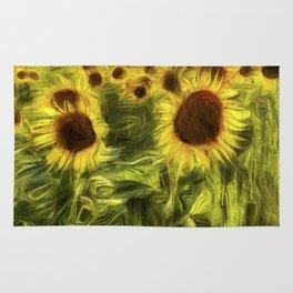 Sunflower Abstract Art Rug