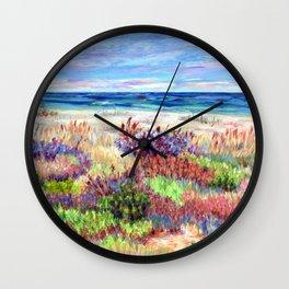 Winter Dunes, Barnegat Light, Long Beach Island, New Jersey Wall Clock
