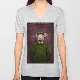 Pigtasic! Funny Pig Art Unisex V-Neck