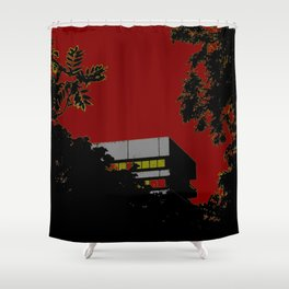 House & trees Shower Curtain