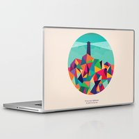 sayings Laptop & iPad Skins featuring I'll be your lighthouse if you'll be my sea by Picomodi