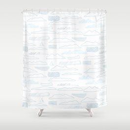Island lines Shower Curtain