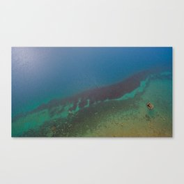 Lake Hawea lake wakatipo blue crystal clear panorama blue vertical_ Canvas Print