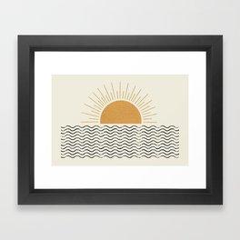 Sunrise Ocean -  Mid Century Modern Style Framed Art Print