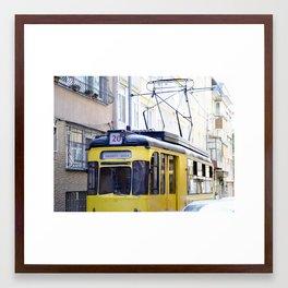 Yellow Tramway Framed Art Print