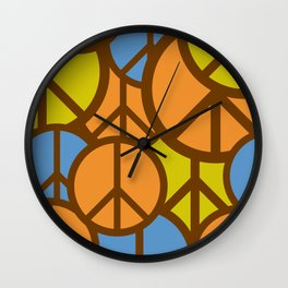 Cool Colorful Groovy Peace Symbols #society6 #decor #buyart #artprint Wall Clock