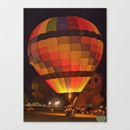 Hot Air Balloon Glowing in the Night at Plano Balloon Festival Canvas Print