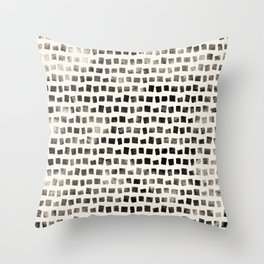 Small Black Squares Throw Pillow