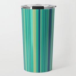 Deep Sea Green Candy Lines Travel Mug
