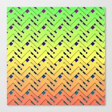 Layered Chevrons Canvas Print