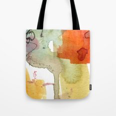 watercolour floral abstract Tote Bag