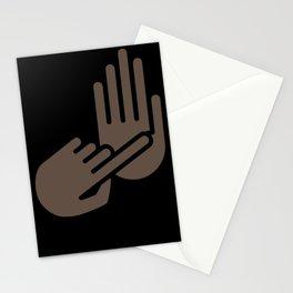 Flint Michigan Hand Map Stationery Cards